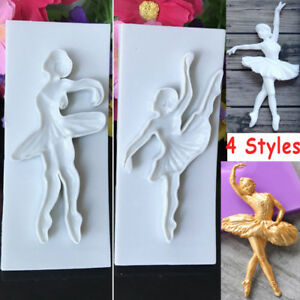 Ballet-Girl-Silicone-Fondant-Cake-Topper-Mold-Sugarcraft-Chocolate-Baking-Mould