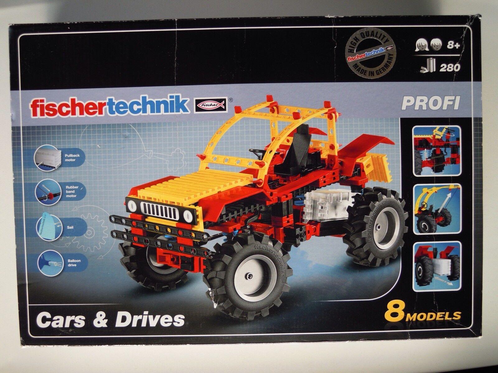 Fischertechnik 516184 Cars & Drives 8 Model Building Kit 280 Pieces (NIB)