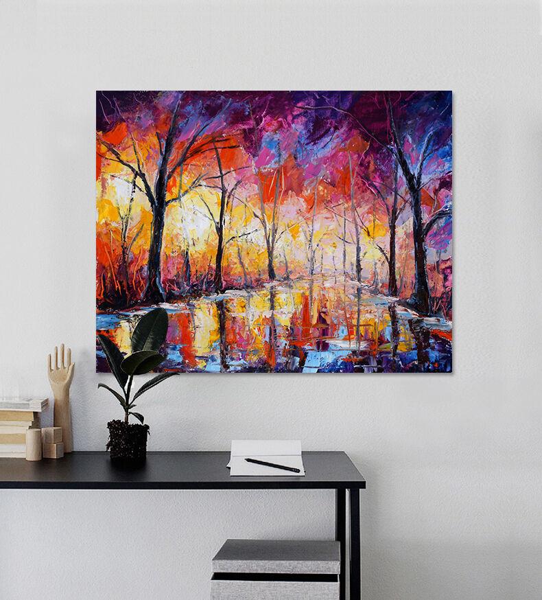 3D Farbe Malerei Straßen Baum 8 Fototapeten Wandbild BildTapete AJSTORE DE Lemon
