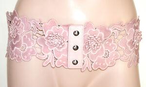 CINTURA-ROSA-CIPRIA-PIZZO-donna-stringivita-corsetto-bustino-fascia-ricamata-BB2