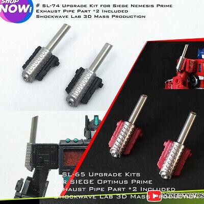 Shockwave Lab SL-65 Exhaust Pipe for Seige Optimus Prime,Upgrade kit