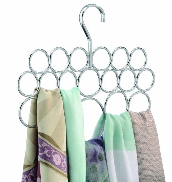 Scarf/Tie Hanger Holder Rack Organizer - Steel Chrome