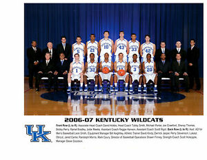 2006 2007 KENTUCKY WILDCATS 8X10 TEAM PHOTO VINTAGE BASKETBALL NCAA HOF USA SEC