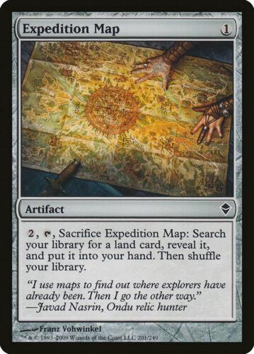 ZEN common Foil Expedition Map MTG MOL Magic Zendikar
