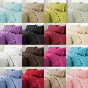 Image Is Loading Plain Duvet Cover With Pillow Case Quilt
