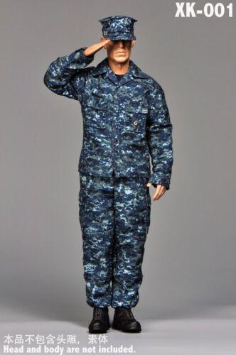 XK001 1:6 U.S NAVY Marine Camouflage Training Clothing Suits Without Body