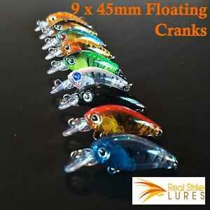 9-x-Bream-Fishing-Lures-Flathead-Trout-Bream-Saltwater-Lure-Lot-Tackle