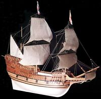 Elegant, Brand Amati Wooden Model Ship Kit: The mayflower