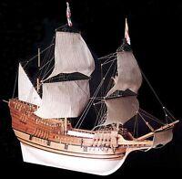 Elegant, Brand Amati Wooden Model Ship Kit: The mayflower