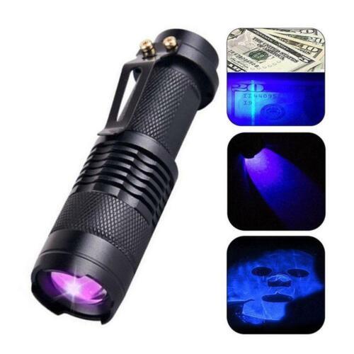 Ultra UV Violet LED Flashlight Blacklight Light 395-410nM Inspection Lamp Torch