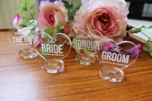 Wedding place setting décorations-nom de table de plaques et favorise-clair