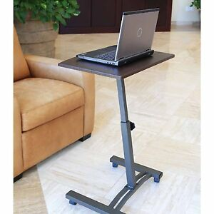 Laptop Table Rolling Portable Stand Desk Cart Notebook Couch Mobile Adjustable Ebay