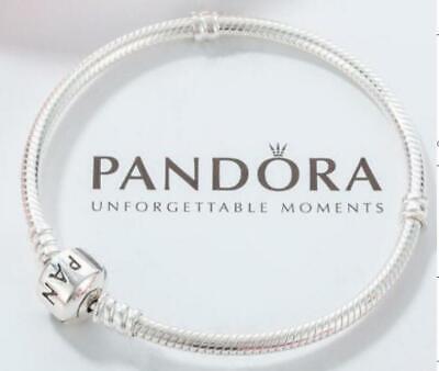 Authentic Pandora Silver Bracelet Barrel Clasp 590702hv Multiple Size Ebay