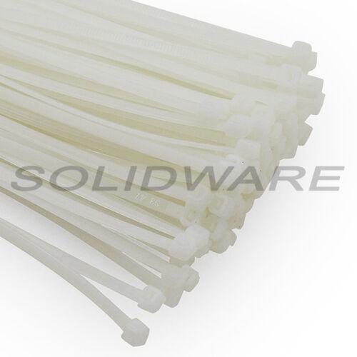 Kabelband 100 Stk Kabelbinder 250 x 4,5 mm natur//weiß