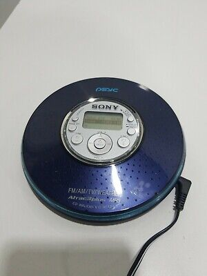 Blue Sony D-NF420PSBLUE MP3//ATRAC3 Psyc CD Walkman with AM//FM Tuner