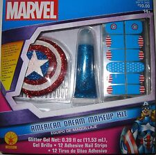 MARVEL AMERICAN DREAM MAKEUP KIT ACCESSORIES HAIR COMB NAILS GLITTER NIP RUBIE'S