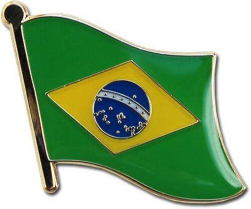Wholesale Pack of 50 Brazil Country Flag Bike Hat Cap lapel Pin