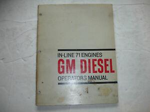 Detroit Diesel GM In-Line Series 71 Engine OPERATORS MANUAL