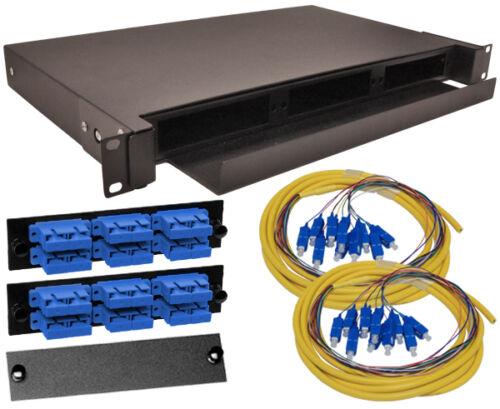 Fiber Patch Panel Loaded SC Singlemode 9//125 Sliding 1U up to 36 ports lot