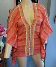 Cecilia Prado Anthropologie Boho Ethnic Poncho Kimono Blouse Top Xs S M