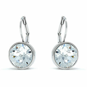 Bella-Mini-Drop-Earrings-with-White-Clear-Round-Crystals-from-Swarovski