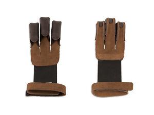 Traditioneller-Leder-Schiesshandschuh-Fingerschutz-fuer-Bogensport-Bogenschiessen