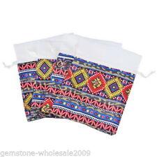 20PCs Multicolor Ethnic Mini Jewelry Gift Bag Gauze Storage Bags 10cmx8cm HA