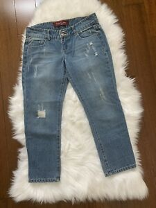 c4b70accdc6 Image is loading baby-phat-destroy-style-cropped-jeans-size-3-