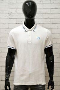 Polo-LOTTO-Uomo-Taglia-Size-XL-Maglietta-Maglia-Camicia-Shirt-Man-Cotone-Bianco
