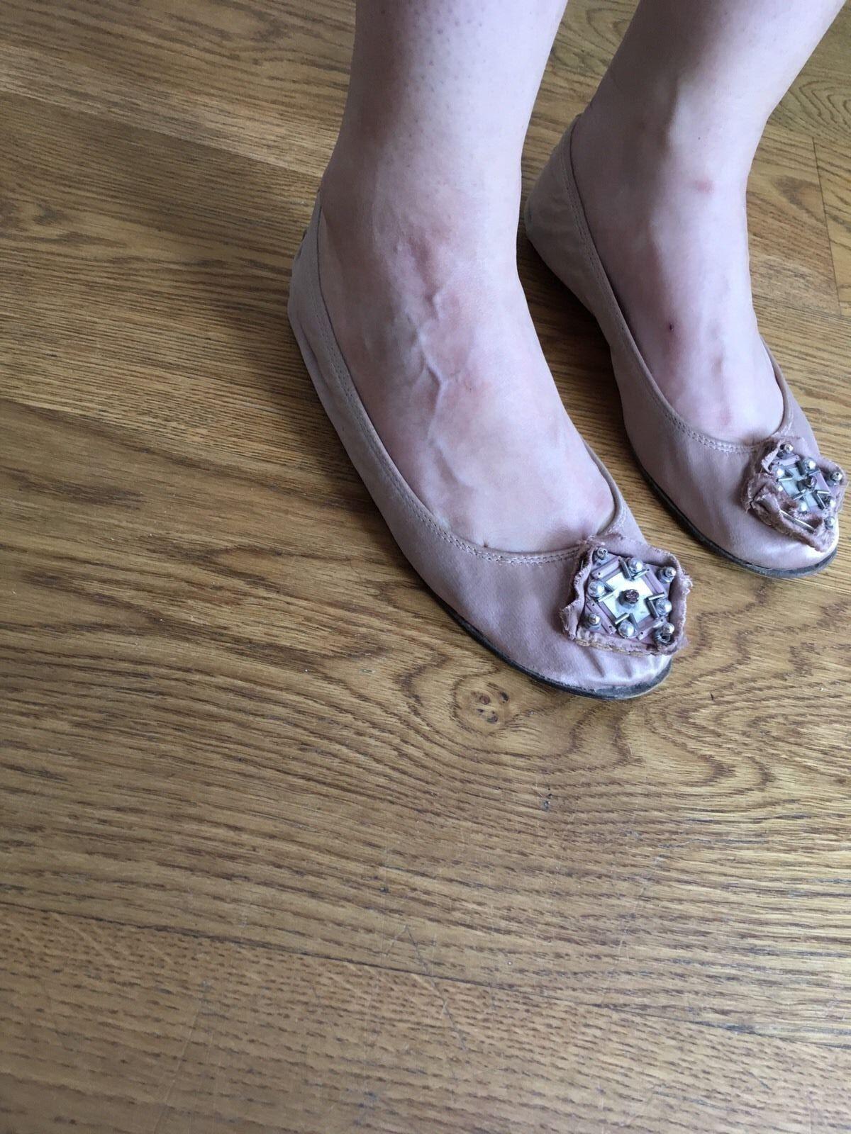 Lanvin 35 round-toe flats with beaded embellishments flats Sz 35 Lanvin UK 2 US 5 c7a769