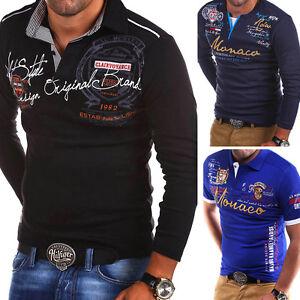 BEHYPE-Herren-Poloshirt-Longsleeve-Polo-T-Shirt-versch-Modelle-Farben-NEU-WOW