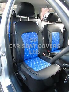 Nissan Terrano II Full Set BLACK /& BLUE Trim Car Seat Covers Protectors