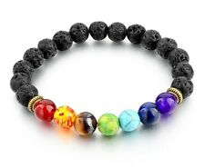 7 Chakra Healing Bead Bracelet, Reiki Prayer Stones, Balance, Gift Ideas