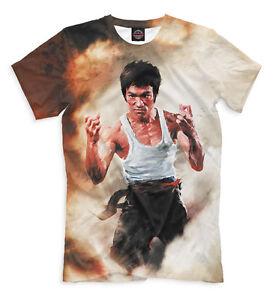 Bruce-Lee-T-Shirt-legendaire-Fighter-Jun-Fan-Tee-SPORT-KARATE-KUNG-FU-Ju-Jitsu