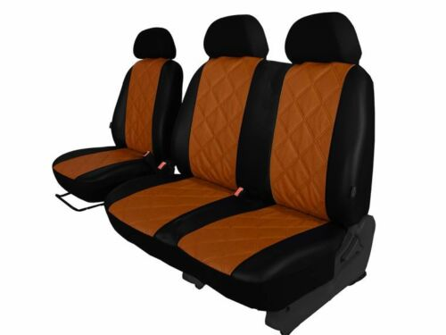 PEUGOT EXPERT  2007-2016  2+1 ECO LEATHER SEAT COVERS MADE TO MEASURE black