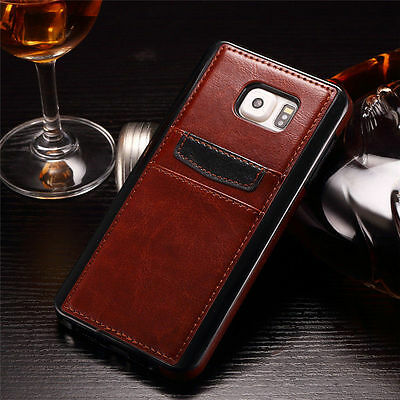 Slim Leather Wallet Card Back Case Cover For Samsung Galaxy S6 Edge Plus Note 5
