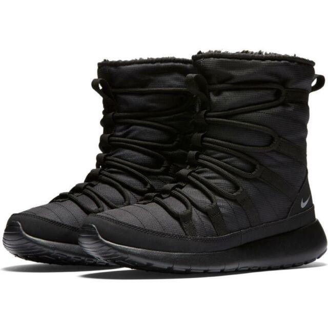 design unic angro preț uimitor NEW Nike Roshe One High (GS) 807758-001 Black/Metallic Silver Size 3.5Y for  sale online