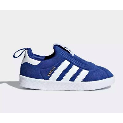 Adidas AQ1092 toddler GAZELLE 360 I baby shoes kids BLUE / WHITE | eBay