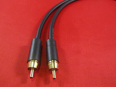 """UpScale Canare GS-6 Un-Balanced 1//4/"""" TS to RCA Audio Cable Blue  25FT"""