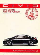 2007 Honda Civic Si Classic Vintage Advertisement Ad H14 freedom is power