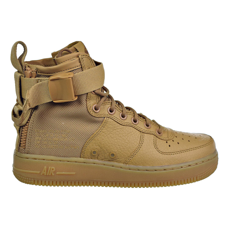 Nike Gold/ SF Air Force1 Womens Sneakers Elemental Gold/ Nike Elemental Gold or Fondamental bd6125
