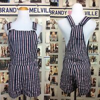 Brandy Melville Red White Blue Open Back Adjustable Overalls