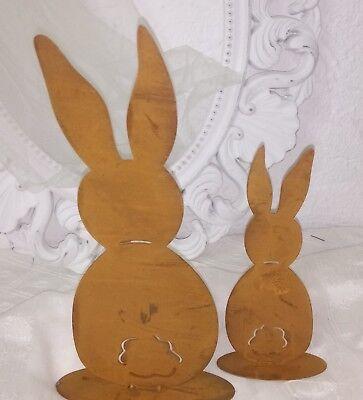 Other Baking Accessories Brilliant Ruggine Coniglio Di Pasqua Su Pannello Lepre Stile Country 28cm Metallo