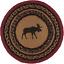 Country-Rustic-Lodge-Cabin-MOOSE-Braided-Jute-13-034-Tablemat-Trivet thumbnail 1