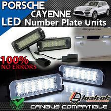x2pc PORSCHE CAYENNE Number Plate Lights 18 SMD LED UNITS ERROR FREE - UPGRADES