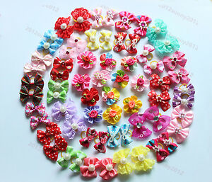100pcs-Pet-Puppy-Dog-Cat-Hair-Bows-Pet-Dog-Grooming-Accessories-Mix-Styles