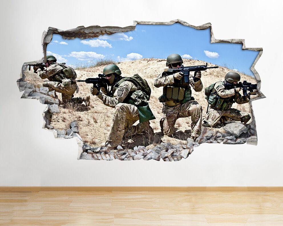 A090 soldati dell'esercito Scena COD Ragazzi   adesivo da parete camera bambini