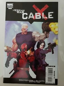 X-FORCE-14-2009-MARVEL-MESSIAH-WAR-DEADPOOL-DOMINO-CABLE-VARIANT-COVER-NM