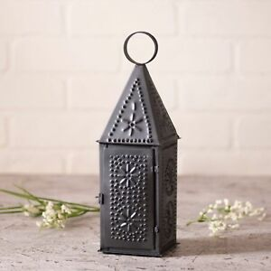 Steeple-LanternTaper-Candle-Primitive-Home-Decor-Irvin-039-s-Country-Tinware