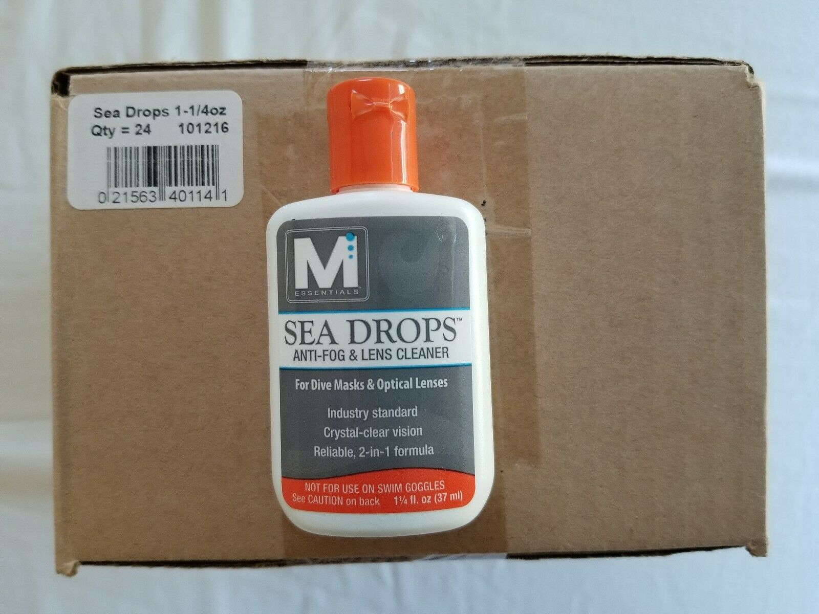 Mcnett Sea Drops Anti-Fog ^ Lens Cleaner for Scuba Dive Snorkel Mask 24 pc Box